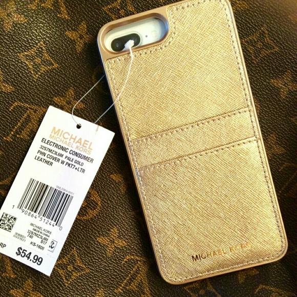53c1c1b9833b Michael Kors Accessories   Brand New Gold Iphone 67 Plus Case   Poshmark
